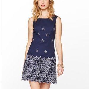 Lilly Pulitzer Clarita Sailboat Embroidery Dress